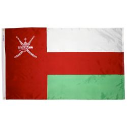 Nylon Oman Flag - 4 ft X 6 ft
