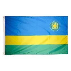 Nylon Rwanda Flag - 5 ft X 8 ft