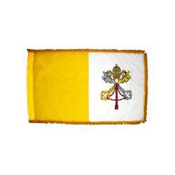 Fringed Papal Flag - 3 ft X 5 ft