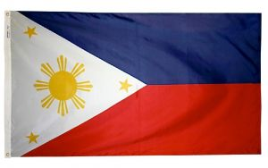 Nylon Philippines Flag - 4 ft X 6 ft