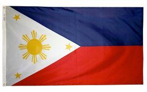 Nylon Philippines Flag - 5 ft X 8 ft