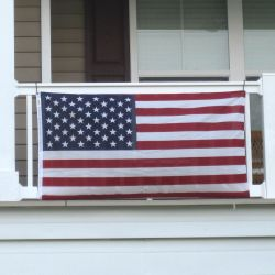 Polycotton Mounted Balcony US Flag Kit