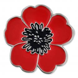 Commemorative Poppy Lapel Pin