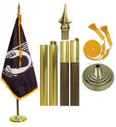 Mounted POW-MIA Flag Sets