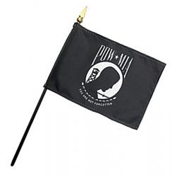 POW-MIA Stick Flags - 8 in X 12 in