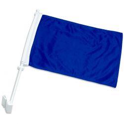 Double-Sided Car Flag - Blue