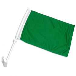 Double-Sided Car Flag - Green