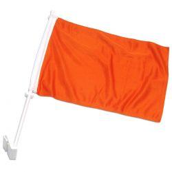 Double-Sided Car Flag - Orange