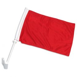 Double-Sided Car Flag - Red