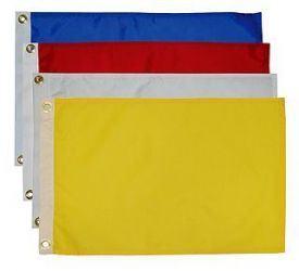 12 IN  X 18 IN Solid Color Nylon Flags - Available in 73 Colors