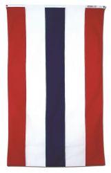 Half Fan Flat with Stripes