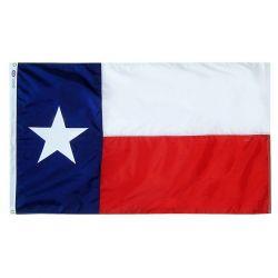 Nylon Texas State Flag - 12 in X 18 in