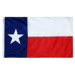 Nylon Texas State Flag - 2 ft X 3 ft
