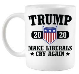 Trump 2020 Make Liberals Cry Again Coffee Mug