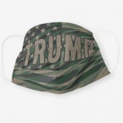 Trump USA Camo American Flag Cloth Face Mask