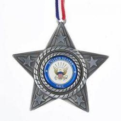 U.S. Navy Metal Star Ornament