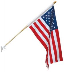 Econo-Poly Banner Pole Replacement Flag - 2 1/2 ft X 4 ft