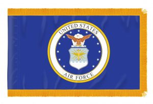 3' X 5' Indoor Fringed Nylon Air Force Flag