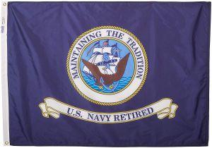 3' X 4' U.S. Navy Retired Flag