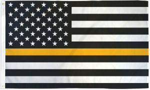 Lightweight Printed Thin Gold Line US Flag