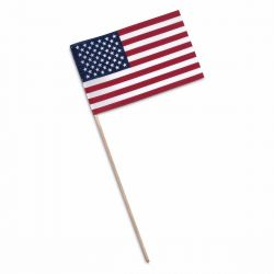 Economy No-Fray Mounted US Flags