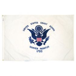 Nylon Coast Guard Flag - 5 ft X 8 ft