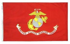Nylon Marine Corps Flag - 4 ft X 6 ft