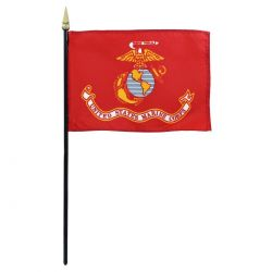4 X 6 Inch US Marine Corps Stick Flag