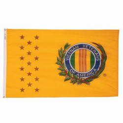 Nylon Vietnam Veterans of America Flag - 3 ft X 5 ft