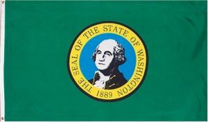 Economy Printed Washington State Flag