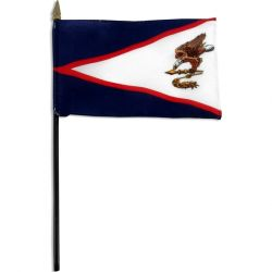 American Samoa Stick Flags - 4 in X 6 in