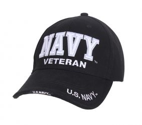 Deluxe Low Profile Navy Veteran Cap