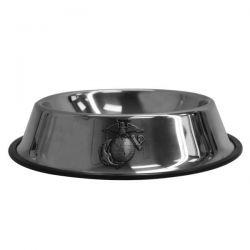 Metal No-Slip USMC Pet Bowl