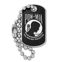 POW/MIA Dog Tag Pin