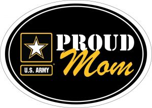 Proud Mom Army Star Magnet