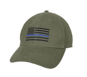 Thin Blue Line Low Profile Cap - Olive