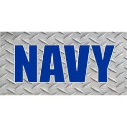U.S. Navy Diamond Plate Photo License Plate