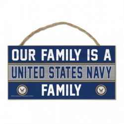 U.S. Navy Wood Sign with Rope