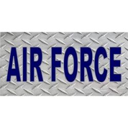 US Air Force Diamond Plate License Plate