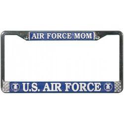 US Air Force Mom Chrome License Plate Frame