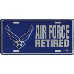 US Air Force Retired License Plate