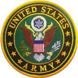 """US Army Logo Iron-On Patch - 3"""""""