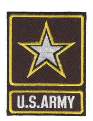 US Army Star Iron-On Patch