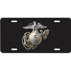 USMC Globe & Anchor Photo License Plate