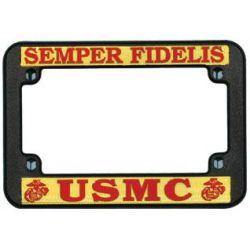 USMC Motorcycle License Plate Frame
