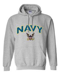 US Navy Eagle/Anchor Hooded Sweatshirt