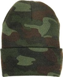 Woodland Camouflage Deluxe Military Watch Cap