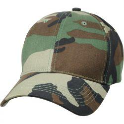 Woodland Camo Low Profile Cap