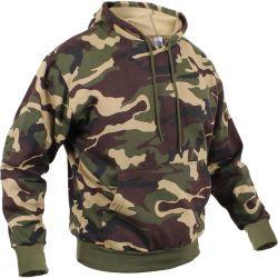Woodland Camo Pullover Hooded Sweatshirt