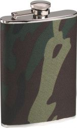 Woodland Camouflage Stainless Steel Flask